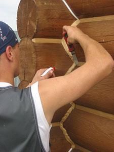 Герметизация швов в деревянном доме