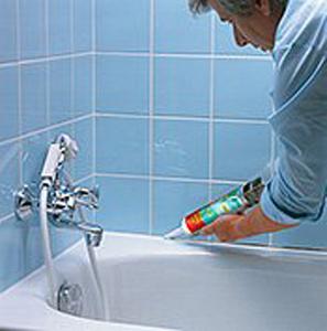 Герметизация шва вокруг ванны