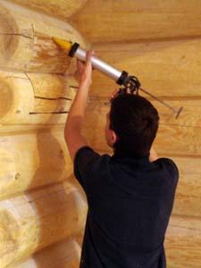 Заделка деревянных швов